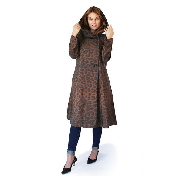 Mycra Pac Donatella Leopard Tea Raincoat Brown 0-P
